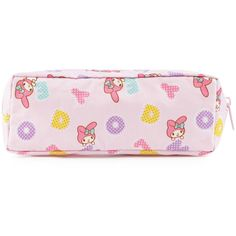 My Melody Pencil Case Sweet Bubble Letters ($7.95) ❤ liked on Polyvore featuring home, home decor and office accessories