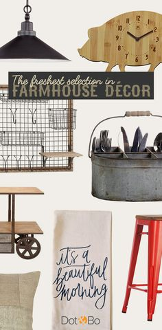 Farmhouse Favorites: Our most beloved rustic designs. Shop Now at dotandbo.com!
