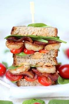 Sunday Suppers: Spicy Chipotle Shrimp BLTs ***Try it as a wrap?****