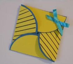 If you are looking for unique card making ideas, then you might enjoy this fun and Simple Origami Card. With this step-by-step picture tutorial, you will see how to make the template and how to fold up this card that is sure to delight its recipient. Origami Birthday Card, Cool Birthday Cards, Birthday Wishes, Origami Cards, Origami Paper, Origami Folding, Diy Paper, Origami Ideas, Paper Folding