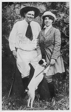 Jack London with his second wife Charmian. Photo taken six days before his death.