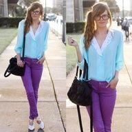 purple jeans :)