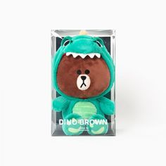 [New] Line Friends Store Official Wanner Be Dino Brown Doll (25cm)