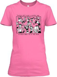 Full Moon Teacher T-Shirt | Teespring