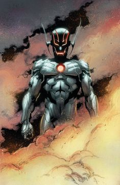 Ultron believes in mechanical superiority over humans and other organic lifeforms. Stating humanity should not change, but evolve. At times he's defeated, only to reemerge stronger and numbering his later versions as he evolves himself to adapt to his enemies.