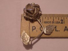 Vintage TAXCO 925 Sterling Silver ROSE FLOWER Pin Brooch TC-18 SCC #Taxco