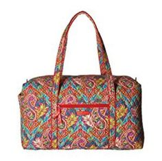 Vera Bradley Large Duffel Tote Luggage Paisley In Paradise Weekend Travel  Bag 31% off retail 87a81972659ff
