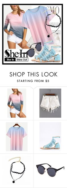"""""""76. SheIn"""" by diana97-i ❤ liked on Polyvore featuring ombre, Tshirt, ombreshirt and shein"""