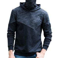 JOZSI Leisure Hooded Cashmere Sports Hoodies Sweatshirts at Banggood Sports Hoodies, Fashion Seasons, Sport Casual, High Collar, Men Sweater, Sweater Fashion, Cashmere Sweaters, Hoods, Sweatshirts
