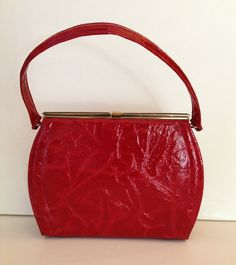 Fifties Red Handbag by Lennox Bags by BarbeeVintage on Etsy, $18.00
