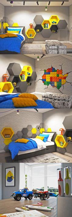 Baby Decor Room Boy Quartos 29 Ideas For 2019 Boys Room Design, Kids Bedroom Designs, Study Table Designs, Lego Room, Baby Boy Rooms, Baby Room Decor, Kid Beds, Girls Bedroom, Kids Room