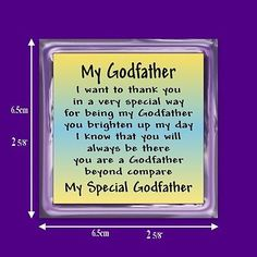 My godfather #verse magnet from godchild - #birthday - #christening -thank you gi,  View more on the LINK: http://www.zeppy.io/product/gb/2/360315944952/