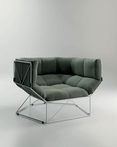 Foxhole Lounge Chair design by Nathan Yong for spHaus Italy, available from Australian distributor Own World 2 9358 1155 Cool Furniture, Modern Furniture, Furniture Design, Geometric Furniture, Geometric Fabric, Furniture Dolly, Take A Seat, Deco Design, Furniture Inspiration
