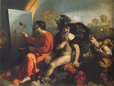 Tableaux sur toile, reproduction de Dossi, Jupiter Painting Butterflies