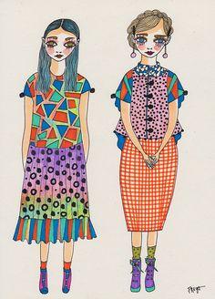 Freya Flavell at doodoodloo Pet Trailer, Fashion Sketches, Print Design, Art Pieces, Textiles, Princess Zelda, Costumes, Drawings, Creative