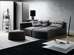 Modular Upholstered Sofa RIVER by Saba Italia | Design Sergio Bicego (2012)