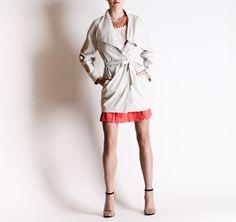 Christine Phung SS2013 Ara White Coat #ModeWalk #luxury #fashion #ChristinePhung #coat
