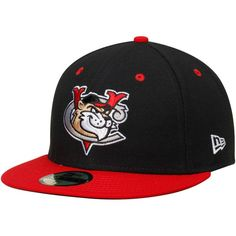 Tri-City ValleyCats New Era Authentic 59FIFTY Fitted Hat - Black/Red