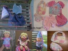 Sewing PATTERN PDF For Cabbage Patch Baby Doll Clothes Diapers and Bi Sewing Doll Clothes, Baby Doll Clothes, Sewing Dolls, Baby Dolls, Doll Dress Patterns, Sewing Patterns, Cabbage Patch Babies, How To Make Clothes, Bitty Baby