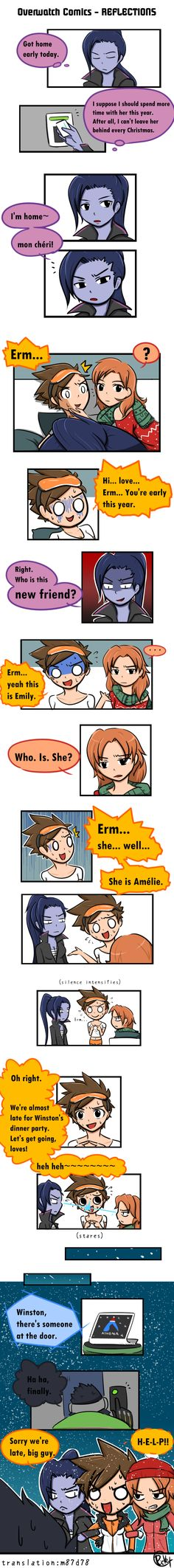 Overwatch Comics - REFLECTIONS #comics #emily #manga #overwatch #reflections #tracer #widowmaker #widowtracer
