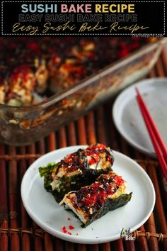 This sushi bake recipe provides you with a quick and super simple way of creating sushi in a casserole form, which provides a large batch.