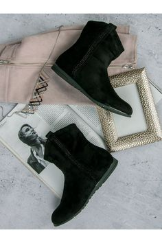 Klasciké čierne semišové topánky CnB Booty, Ankle, Shoes, Fashion, Moda, Swag, Zapatos, Wall Plug, Shoes Outlet