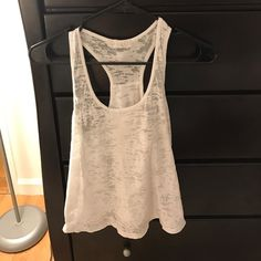 I just discovered this while shopping on Poshmark: White Sheer Forever 21 Tank. Check it out!  Size: S