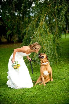 I want a picture with my dogs on my wedding day. They're family too!