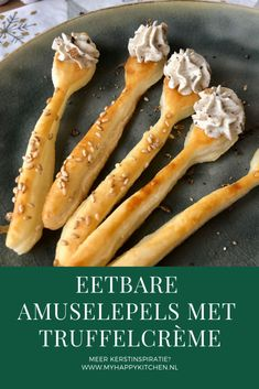 Eetbare amuselepel met truffelcrème (+WINACTIE) - My happy kitchen & lifestyle Tapas, Snacks Für Party, Appetizers For Party, Tumblr Food, Good Food, Yummy Food, Xmas Dinner, Lunch Box Recipes, Xmas Food