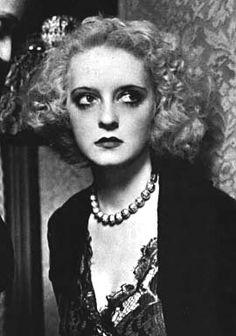 Bette Davis. Love the smokey eye
