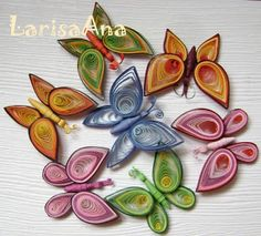 Fairy tale about quilling: Butterfly dragonfly (quiling paper art butterfly) Quilling Butterfly, Neli Quilling, Origami And Quilling, Paper Quilling Designs, Quilling Paper Craft, Quilling Flowers, Paper Butterflies, Quilling Patterns, Paper Crafts
