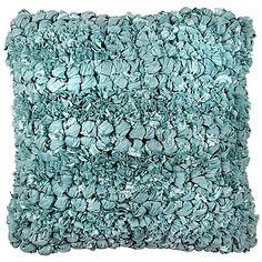 Jalendu Square Throw Pillow in Aqua