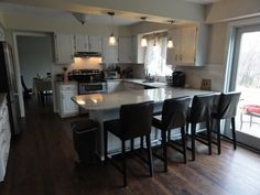 Kitchen Peninsula With Seating On Both Sides Wood Modern Dining Chairs  Brown And Gravel Brinley 1 Light Pendant Brushed Nickel Classic Iron  Accented Bar ... Design Ideas