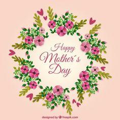fondo-del-dia-de-la-madre-con-corona-floral_23-2147547790.jpg (626×626)