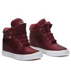 Tênis Mary Jane Sneaker Street Heel Bordo MJ-4200