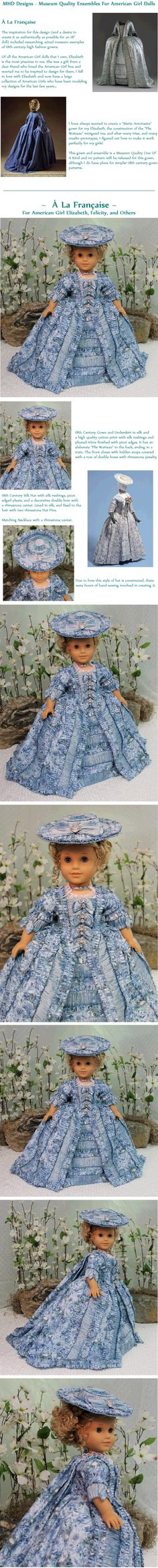 MHD  OOAK  for Elizabeth/Felicity. Only a simpler pattern will be forthcoming. Ends 2/10/14. Start bid $1000 or BIN for $2500.00