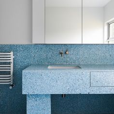 Beautiful joinery can be created using all kinds of materials ~ these dreamy-blue terrazzo tiles are a winner! Northcote House by @winwood.mckenzie | by @blachford #Regram via @buildhercollective
