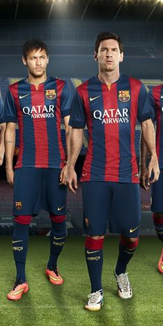 Barcelona 2014-15 Nike Home (Neymar, Lionel Messi) my two favourite players:)