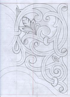 Carving Designs, Wood Carving Patterns, Motifs Art Nouveau, Ornament Drawing, Leather Tooling Patterns, Leather Carving, Islamic Art, Machine Quilting, Quilting Designs