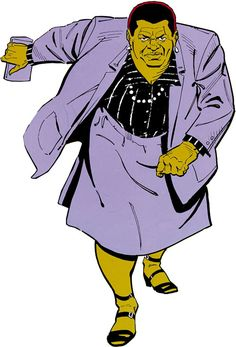 Amanda Waller of the Suicide Squad (DC Comics) in a purple suit. From http://www.writeups.org/amanda-waller-suicide-squad-dc-comics-original/