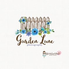 wooden fence logo rustic logo design by stylemesweetdesign on Etsy