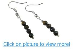 Blue Pietersite, the Tempest Stone Gemstone Dangle Earrings