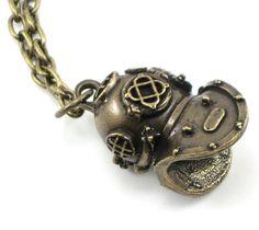 Holy Diver Necklace | LOVE this!  #deep sea #mkv #helmet
