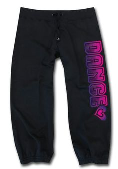 Sports Katz Big Girls DANCE Capri Black Youth Medium. Bright, fading distressed design. Sized Adult S-XL., Youth M-L. 55% cotton/45% polyester. Sports Katz design exclusive!!.
