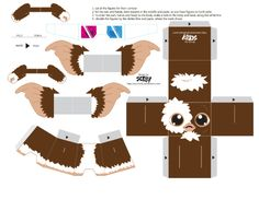 Gizmo Paper Toy Brandy would flip!