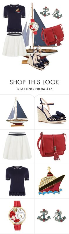 """""""nautical"""" by tanz-mim ❤ liked on Polyvore featuring Kate Spade, ONLY, Oasis, Natures Jewelry, Whimsical Watches and Betsey Johnson"""