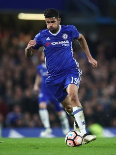 Diego Costa of Chelsea in action during The Emirates FA Cup Quarter-Final match between Chelsea and Manchester United at Stamford Bridge on March 13, 2017 in London, England.