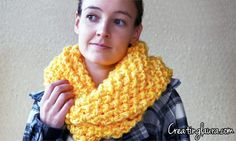 Creating Laura: Infinity Scarf Knitting Pattern Using Straight Size 19 Needles