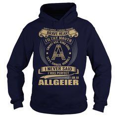 (Tshirt Awesome Sale) ALLGEIER Last Name Surname Tshirt Discount Today Hoodies Tees Shirts