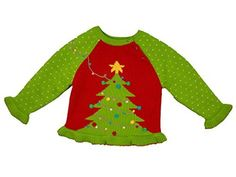 Product review for Hand Knit Girl's Christmas Tree Sweater.  Decorating the Christmas tree can become a yearly tradition and what better way to celebrate than with a matching Christmas tree sweater. Adorned with pom pom ornaments this sweater is sure to become a Holiday favorite. This soft 100% cotton sweater is beautifully hand-crafted using an intarsia...